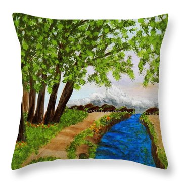 Somewhere In Time Throw Pillow by Celeste Manning