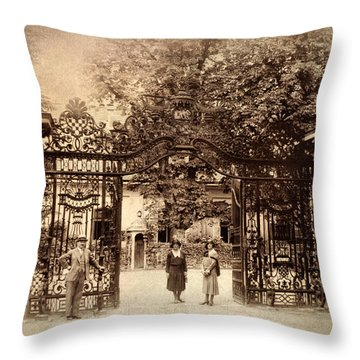 Somewhere In Time Throw Pillow by Jessica Jenney