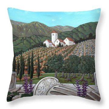 Somewhere In Tuscany Throw Pillow by Gerry High