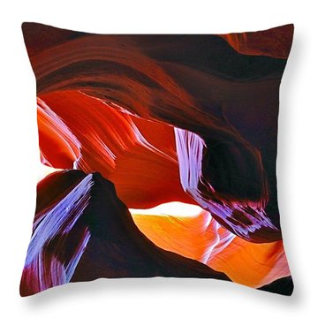 Throw Pillow featuring the photograph Somewhere In Waves In Antelope Canyon by Lilia D