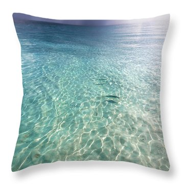 Somewhere Is Rainy. Maldives Throw Pillow