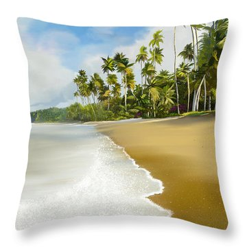 Throw Pillow featuring the digital art Somewhere Near Forever by Anthony Fishburne