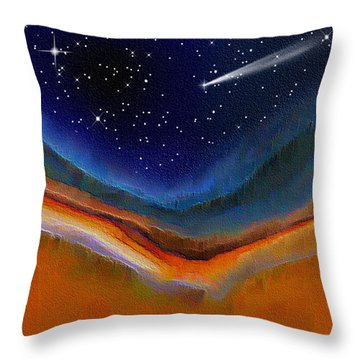 Throw Pillow featuring the digital art Somewhere Out There by Nina Bradica