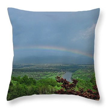 Somewhere Over The Blue Ridge Throw Pillow by Lara Ellis