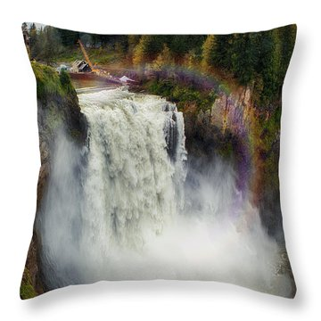 Somewhere Over The Falls Throw Pillow