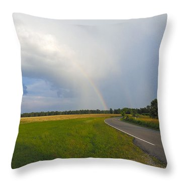 Somewhere Under The Rainbow Throw Pillow by Nick Kirby