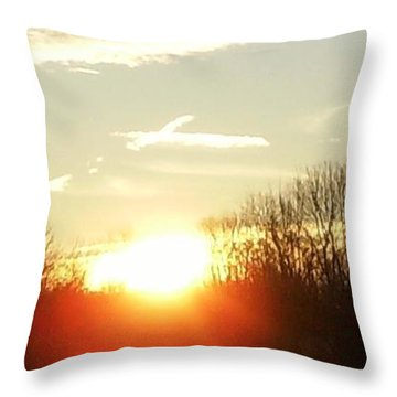 Son Above The Sun Throw Pillow by Nick Kirby
