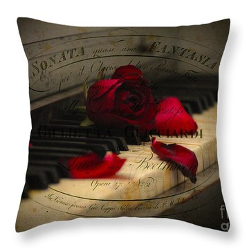 Sonata In Roses Throw Pillow