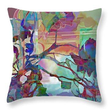Throw Pillow featuring the digital art Sonata by Ursula Freer
