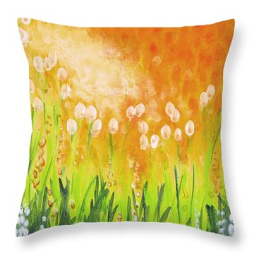 Throw Pillow featuring the painting Sonbreak by Holly Carmichael