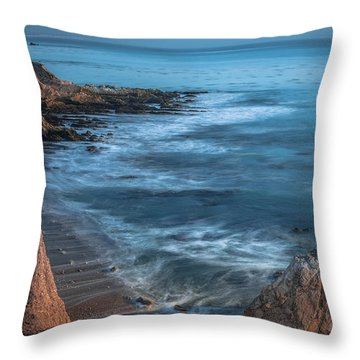 Song At The End Of Day--- Shell Beach Throw Pillow
