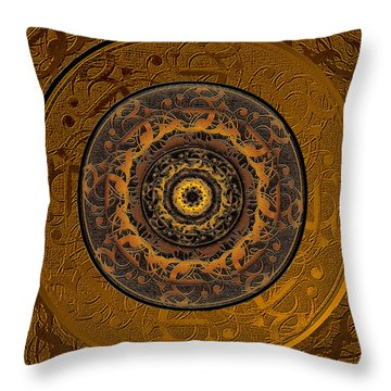 Song Of Heaven Mandala Throw Pillow by Michele Avanti