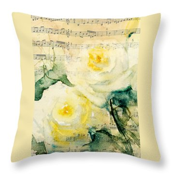 Song Of Roses Throw Pillow