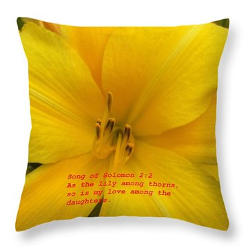 Song Of Solomon 2  2 Throw Pillow by Saribelle Rodriguez
