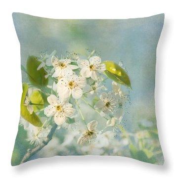 Song Of Spring Throw Pillow by Kim Hojnacki