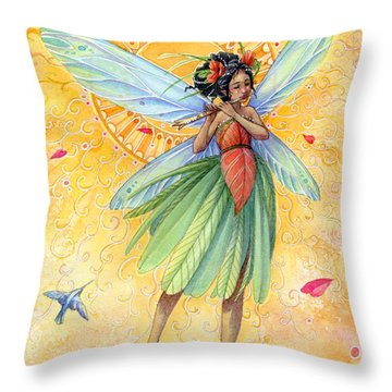 Song Of Summer Throw Pillow by Sara Burrier