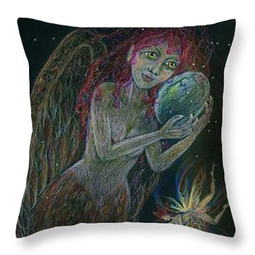 Song Of The Harpy Hen Throw Pillow by Dawn Fairies