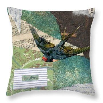 Songbird Swallow Throw Pillow