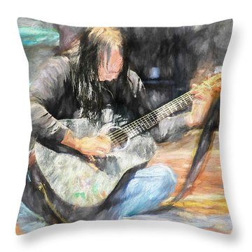 Songs From The Street Throw Pillow by Bob Orsillo