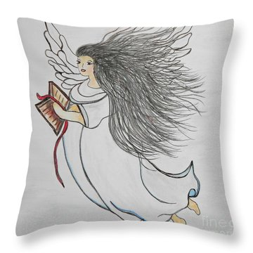 Songs Of Angels Throw Pillow by Eloise Schneider