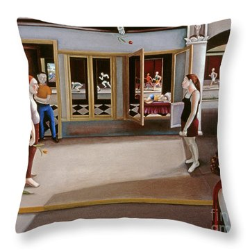 Songs Of Travel Five In Dreams Throw Pillow by Caroline Jennings