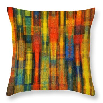 Sonic Dreams Of Glory Throw Pillow by Sandy MacGowan