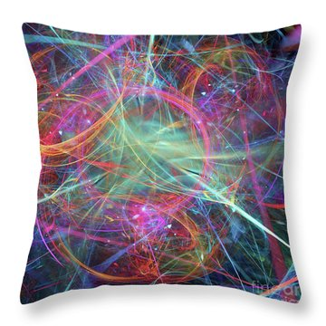 Throw Pillow featuring the digital art Sonogram Of The Soul by Margie Chapman