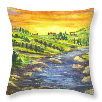 Throw Pillow featuring the painting Sonoma Country by Carol Wisniewski