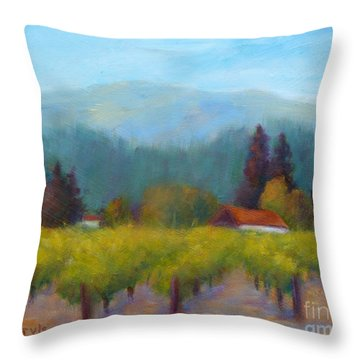 Sonoma Valley View Throw Pillow