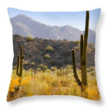 Sonoran Desert Beauty Throw Pillow by Betty LaRue