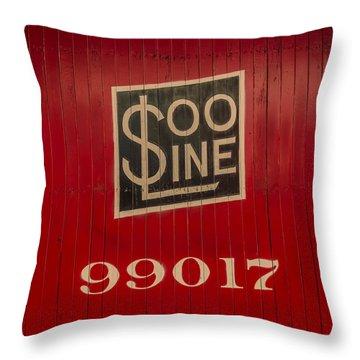 Soo Line Box Car Throw Pillow