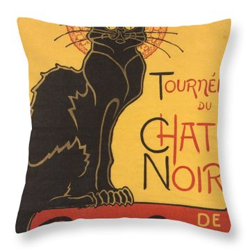Soon The Black Cat Tour By Rodolphe Salis  Throw Pillow by Tracey Harrington-Simpson