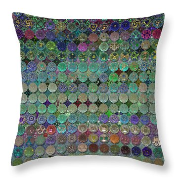 Soon The Dark Cloud Will Be Gone And Life Will Be Glass Ornaments Throw Pillow