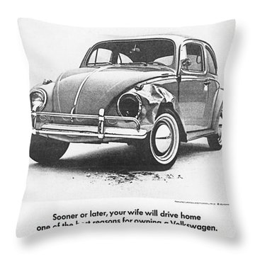 Sooner Or Later Your Wife Will Drive Home.............. Throw Pillow by Georgia Fowler