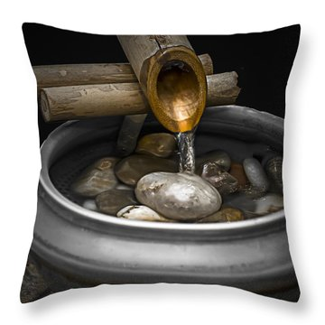 Soothing Flow Throw Pillow