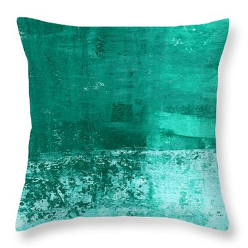 Soothing Sea - Abstract Painting Throw Pillow by Linda Woods