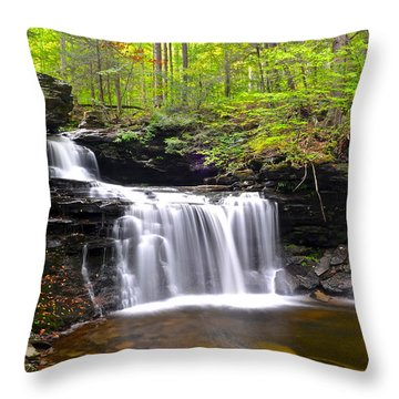 Soothing Tranquility Throw Pillow by Frozen in Time Fine Art Photography