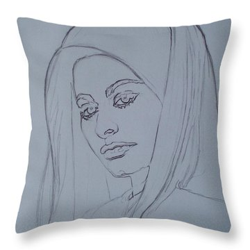 Sophia Loren In Headdress Throw Pillow by Sean Connolly