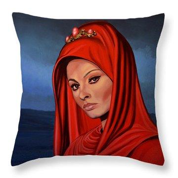 Sophia Loren 2  Throw Pillow