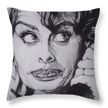 Sophia Loren Telephones Throw Pillow by Sean Connolly