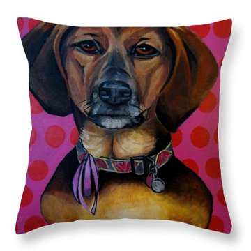 Sophia - My Rescue Dog  Throw Pillow