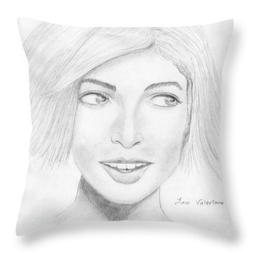 Sophie Throw Pillow by M Valeriano