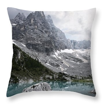 Sorapiss Lake Throw Pillow by Yuri Santin