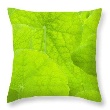 Spring Green II Throw Pillow