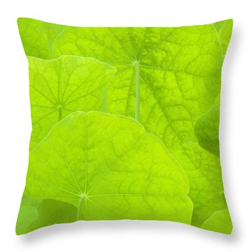 Spring Green II Throw Pillow