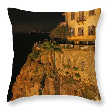 Sorrento Italy Throw Pillow by Richard Engelbrecht
