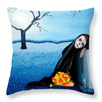 Sorrow And Hope Throw Pillow by Evangelina Portillo