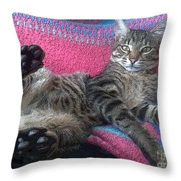 Throw Pillow featuring the photograph Sorry A Bit Tired by Hanza Turgul