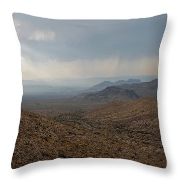 Sotol Scenic Overlook Big Bend National Park Throw Pillow by Shawn O'Brien
