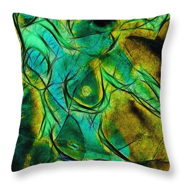 Throw Pillow featuring the digital art souffrance III by Selke Boris